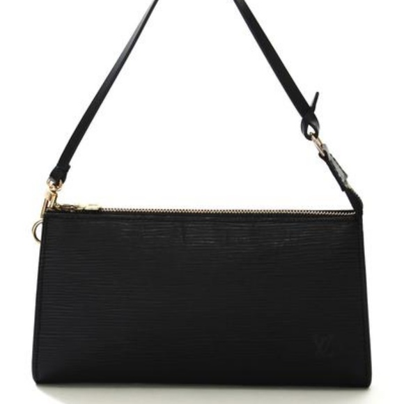 75a4e9f570a6 Louis Vuitton Handbags - LOUIS VUITTON EPI Leather Black Pochette Bag